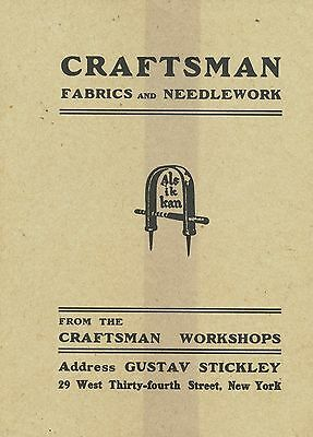 Gustav Stickley Fabric Needlework Furniture Etc.  / Catalog Reprint Book