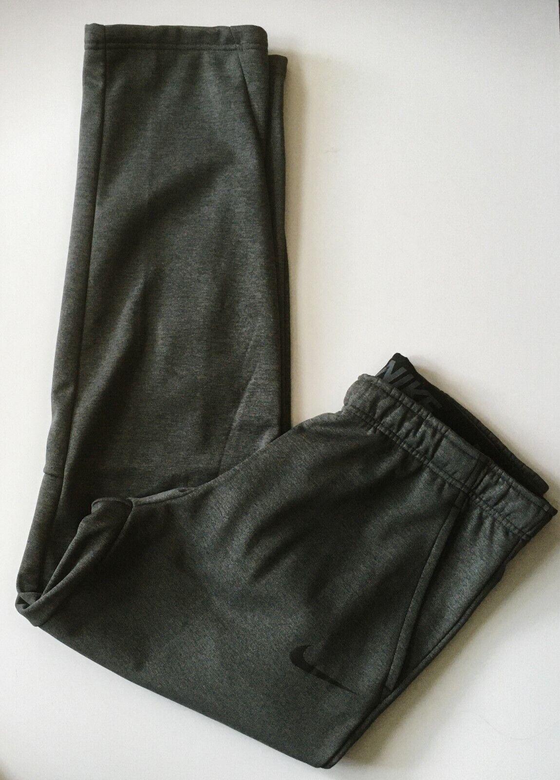 NIKE Men's $55 THERMA Fleece Training Pants NEW 932253-071 D