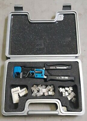 Ideal Telemaster 30-496 Crimp Tool For Rj-11 Rj-45 Wcarrying Case Connections