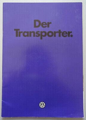 V19670 VOLKSWAGEN T3 TRANSPORTER - CATALOGUE - 01/82 - A4 - D