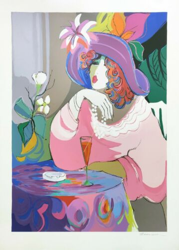 """Isaac Maimon """"champagne Girl"""" 1990 