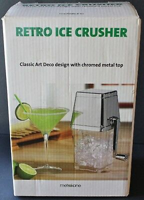 Metrokane Retro Ice Crusher Classic Style - Chrome Metal Top - Home Bar  Barware