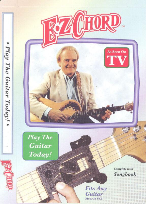 NEW Original E-Z CHORD easy buddy guitar attachment device CD+Book FREE SHIPPING