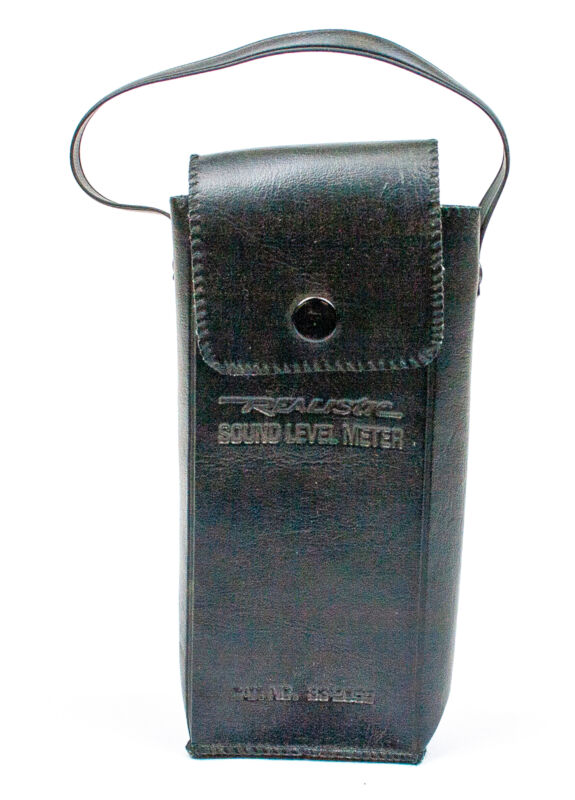 Realistic: Soft Leather Case For Sound Level Meter - NO. 33-2050