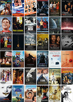 Pulp Fiction 90s CLASSIC MOVIE POSTERS A4 A3 A2 PRINTS Terminator Fargo
