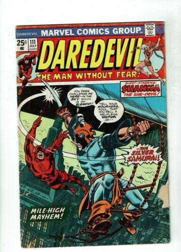 Daredevil #111, GD 2.0, 1st Appearance Silver Samurai; Marvel Value Stamp