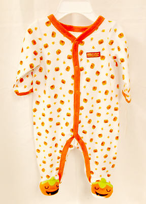 Baby's First Halloween Infant Boys Unisex White Orange Jumpsuit Infant NWT - Baby's First Halloween Costume