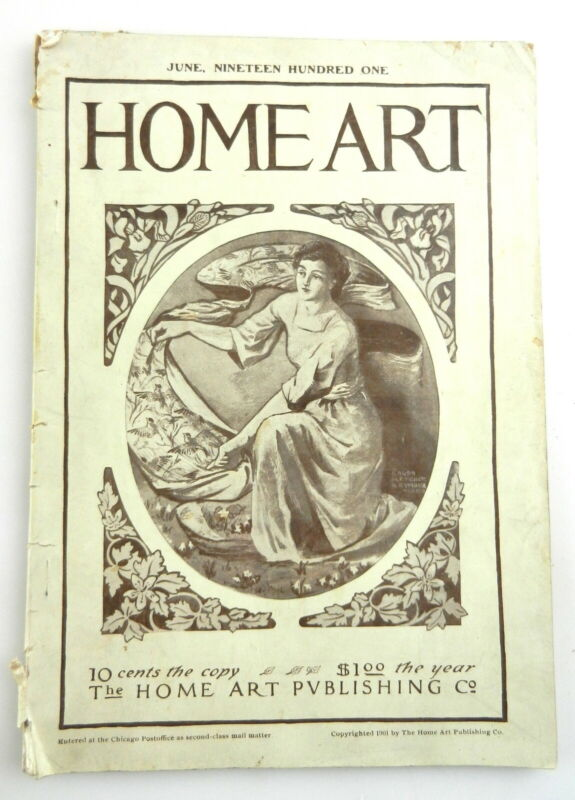 Home Art Magazine June 1901 Needlecraft Chicago Fashions  Embroidery Lace    F22