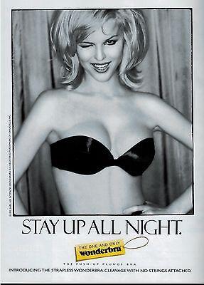 1995 EVA HERZIGOVA for WONDERBRA Magazine   Print  Ad