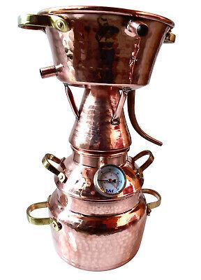 Alquitara aus Kupfer 5 Liter mit Thermometer - Modell mit 3 Sieben...