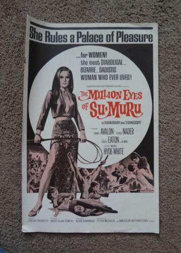 THE MILLION EYES OF SUMURU (AIP 1968) George Nader Shirley Eaton MOVIE PRESSBOOK