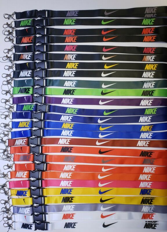 10 Nike Lanyard Detachable Keychain Badge ID Holder Whole sell lot