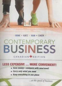 Contemporary Business | Boone,Kurtz, Khan, Canzer.