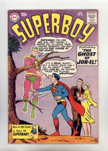 Superboy #78 VGFN Swan, Origin Mr Mxyzptlk, Superbaby