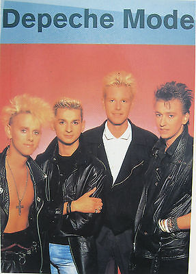DEPECHE MODE STICKER Vintage 'Blonde Band Pic' OLIVER BOOKS 1994 UK Retail Mint