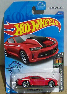 HOT WHEELS HW DREAM GARAGE SERIES '18 COPO CAMARO SS IN RED #3/10 OR #20/250
