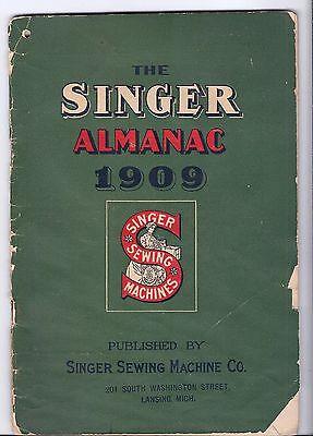 1909 Singer Sewing Machine Co. Almanac...rare antique booklet