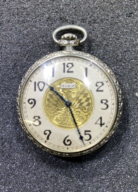 Elgin Pocket Watch, 1927 Model 2, Grade 344, Size 12s, 17J, Running! Ser29637069