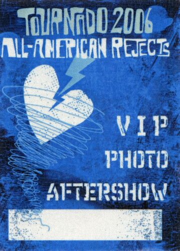 ALL AMERICAN REJECTS 2006 Tornado Concert Tour Backstage Pass!!! #2 custom stage