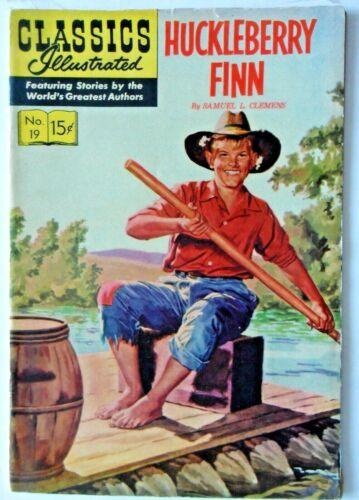 Classics Illustrated #19-Huckleberry Finn Classics Illustrated 1945-HRN140