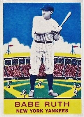 Babe Ruth 33 Aceo Art Card   Free Combined Shipping