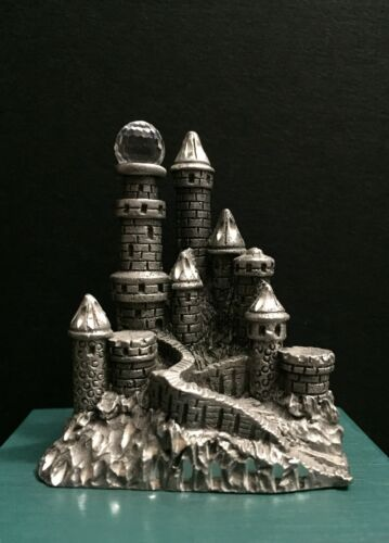 Spoontiques Pewter Metal Medieval Castle Towers Crystal Ball Miniature Figurine