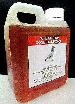 1ltr Wheatgerm Oil Racing Pigeon Poultry Birds Fertility Moulting Conditioning.