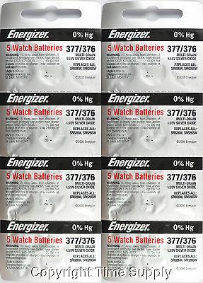 40 pc 377 / 376 Energizer Watch Batteries SR626SW SR626 0%HG