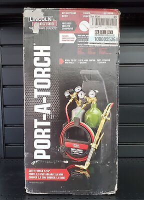 New Lincoln Electric Kh990 Port-a-torch Portable Kit Cutting Welding Brazing Set