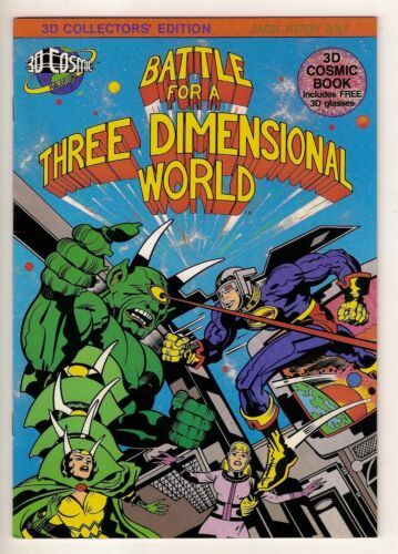 BATTLE FOR A THREE DIMENSIONAL WORLD 3D Cosmic Publications Jack Kirby 1982