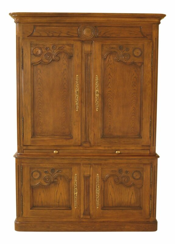 30531EC: BAKER Country French Lighted Bar Wardrobe Cabinet