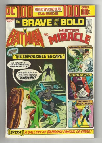 THE BRAVE AND THE BOLD #112, 1974, NM-/NM CONDITION COPY, BATMAN, MISTER MIRACLE