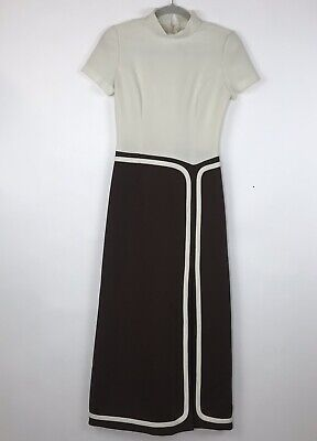 Vtg 70s Ruth Norman for Gay Gibson Womens Maxi Dress Retro Mod Brady Bunch AO13](70s Attire For Womens)