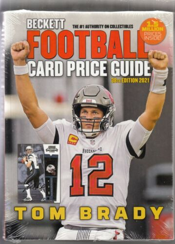 Beckett Football Card Price Guide 2021 38th Edition with Tom Brady on Cover