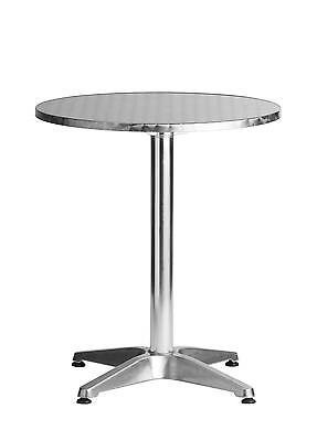 Budget Aluminum Stainless Commercial Restaurant Table 31.5 Round Outdoor Use