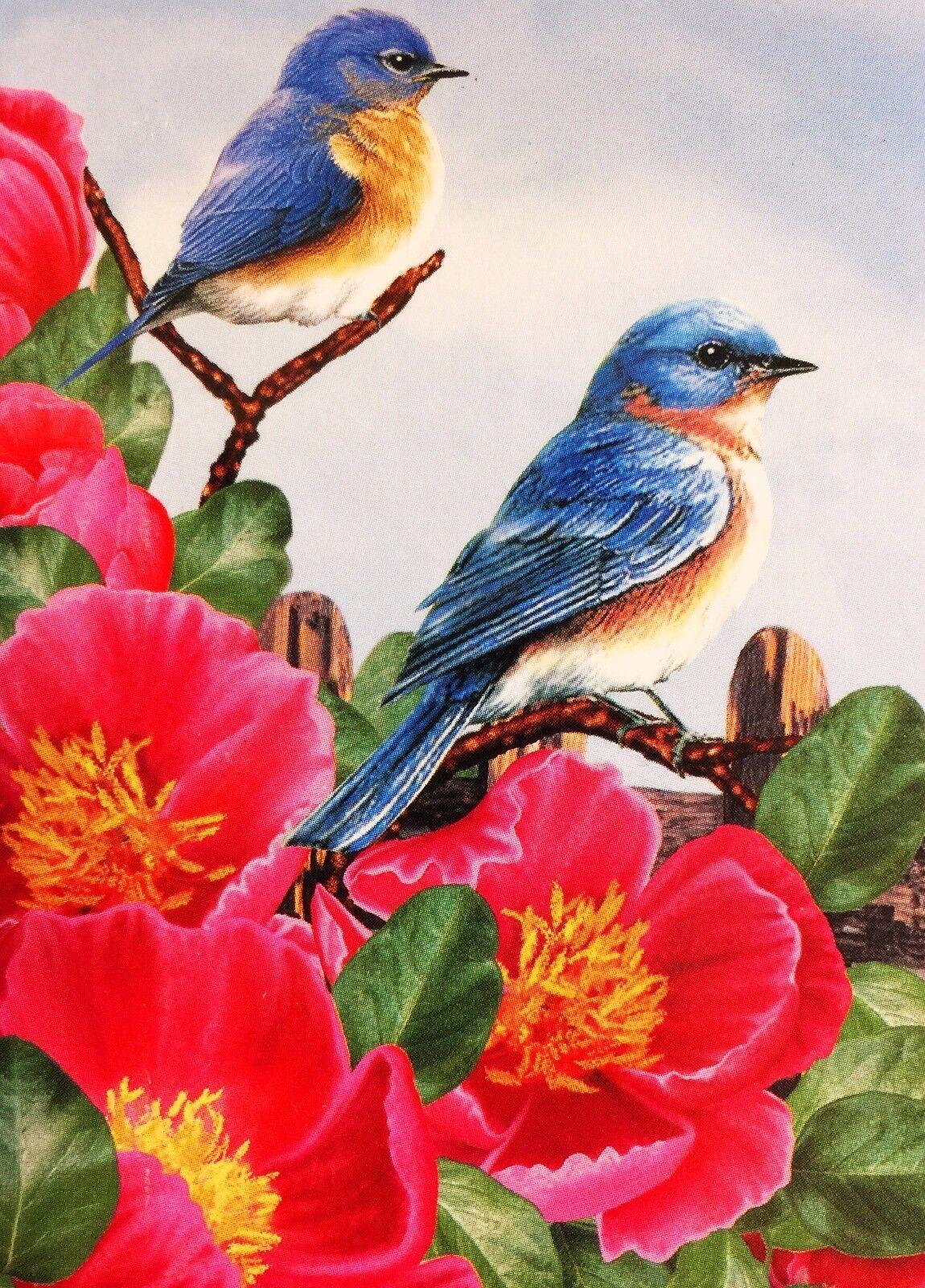 new blue birds garden flag 12 x18