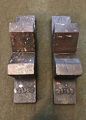 Vintage Large V Blocks Machinist Milling Drill Grinding Round Usa 13.5x 3x 5
