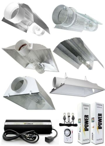 New iPower 1000W HPS MH Grow Light System Kit Cool Tube Hood Wing Reflector Set iPower Does Not Apply for 95.99.