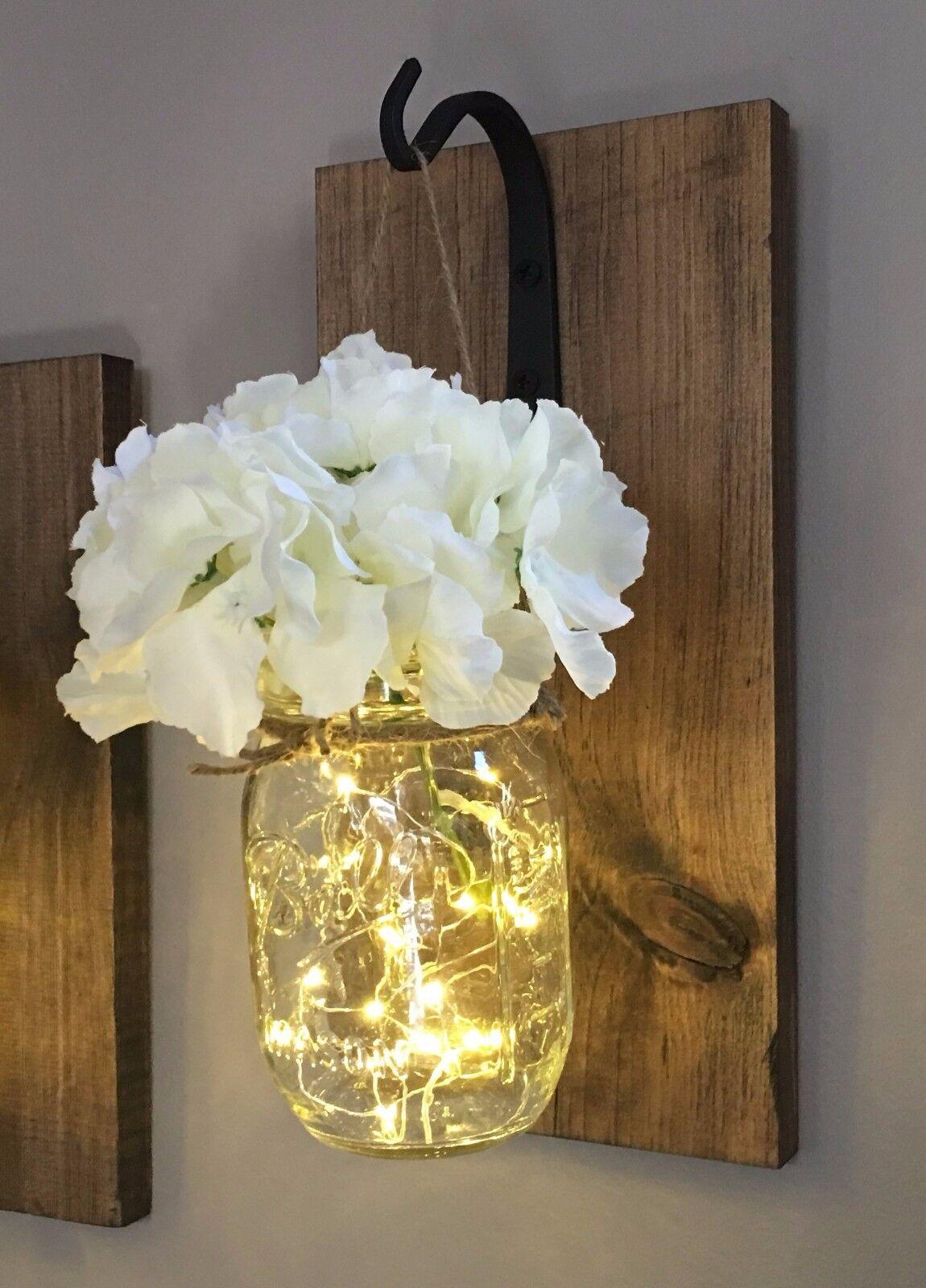 Rustic Mason Jar Wall Light Sconce (Single sconce)