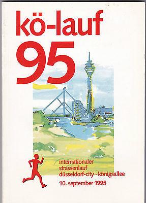 Von 1995: Programmheft kö-Lauf 95 am 10.09.1995