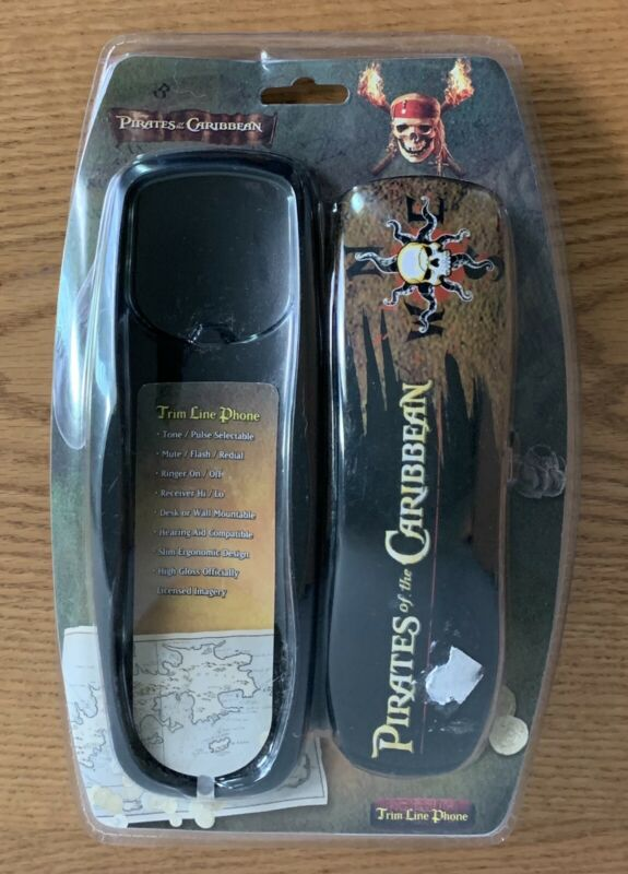 Vintage 2007 Disney Pirates of the Caribbean Trim Line Home Phone - New & Sealed