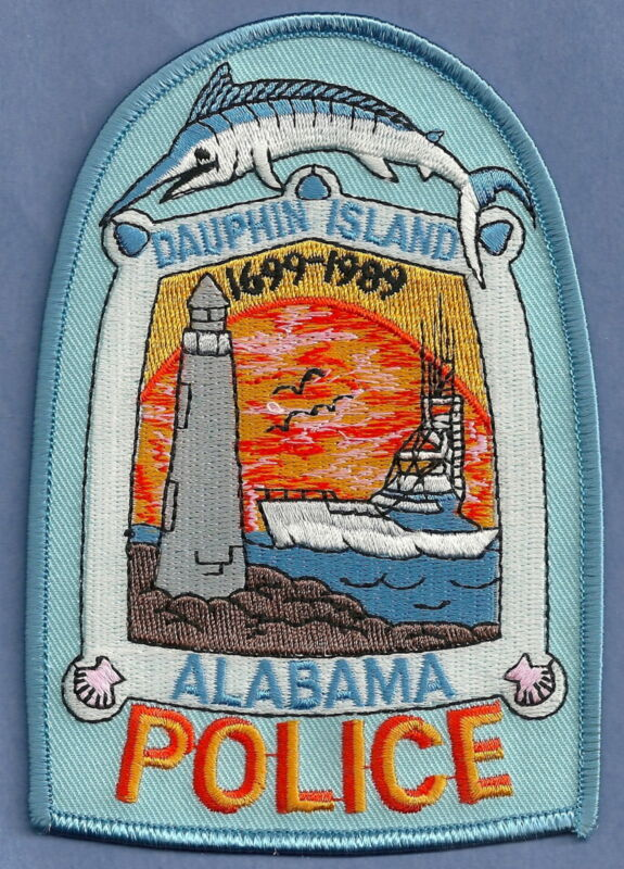 DAUPHIN ISLAND ALABAMA POLICE SHOULDER PATCH LIGHTHOUSE!
