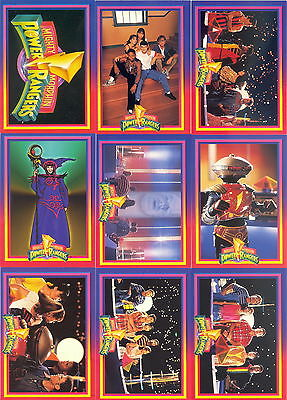 POWER RANGERS SERIES 1 1994 COLLECT-A-CARD COMPLETE BASE CARD SET OF 72 CH