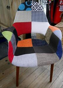 New Replica Eames Patchwork Scandi Timber Organic Dining Chairs Melbourne CBD Melbourne City Preview