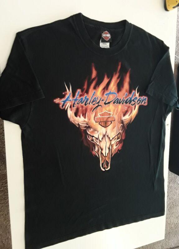 Harley Davidson Motorcycle Large Shirt Detroit Michigan Motown HD 🛵