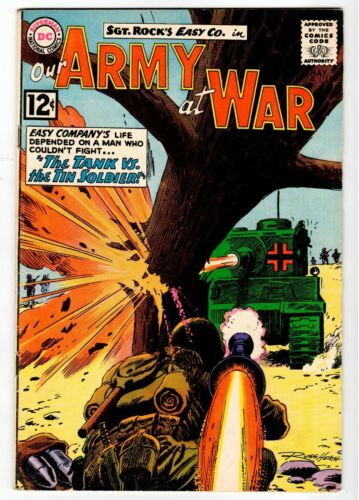 DC - OUR ARMY AT WAR #118 - Heath Cover & Art - VG 1962 Vintage Comic