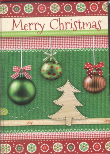 18 ct CHRISTMAS CARDS  READS MERRY CHRISTMAS SHOWS ORNAMENTS BRAND NEW IN BOX