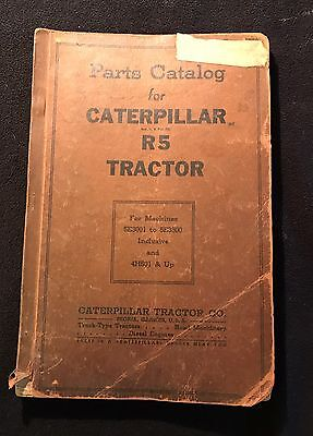 Caterpillar R5 Tractor 5E3001 To 5E3500 And 4H501 Up Parts Manual HTF
