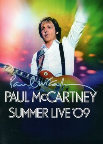 PAUL McCARTNEY 2009 SUMMER LIVE TOUR CONCERT PROGRAM BOOK BOOKLET-NMT 2 MINT