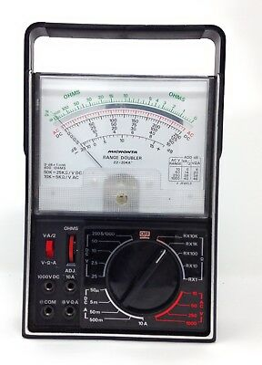 Vintage Micronta 22-204a Range Doubler Multitester 43 Ranges W Test Leads